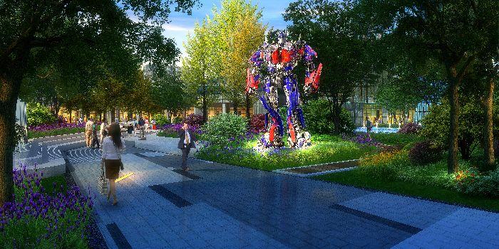 美颂8500平电影景观城市广场设计方案亮相